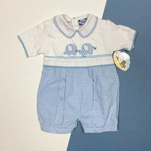 Carriage Boutiques Elephant Romper 9 Months NWT